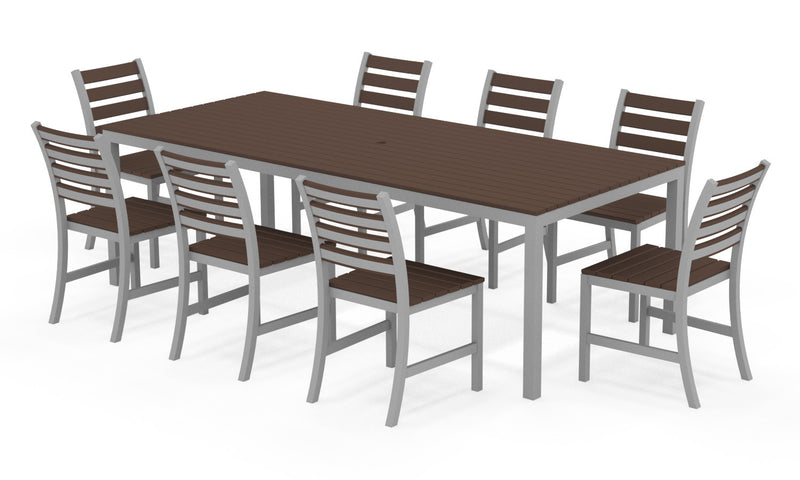 "Elan Furniture Loft Outdoor 96"" Rectangular 9 Piece Dining Set"