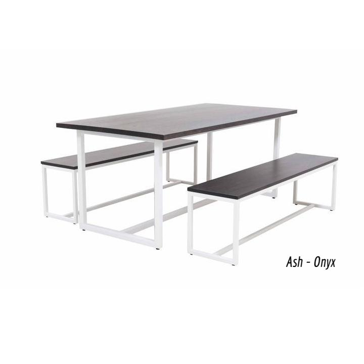 Astonishing Elan Furniture Port Indoor 72 Rectangular 3 Piece Bench Gmtry Best Dining Table And Chair Ideas Images Gmtryco
