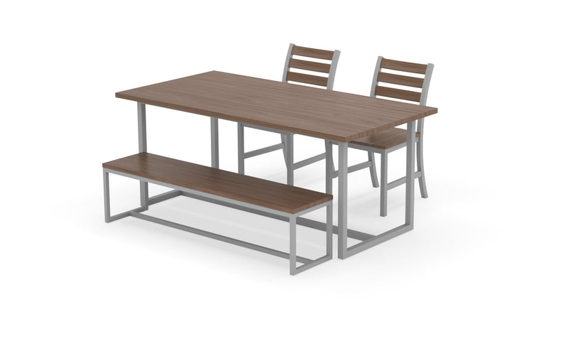 "Elan Furniture Port Indoor 72"" Rectangular 4 Piece Bench Dining Set"