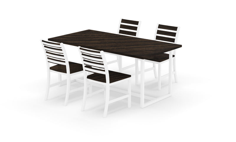 "Elan Furniture Port Indoor 72"" Rectangular 5 Piece Dining Set"