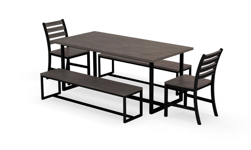 "Elan Furniture Port Indoor 72"" Rectangular 5 Piece Bench Dining Set"