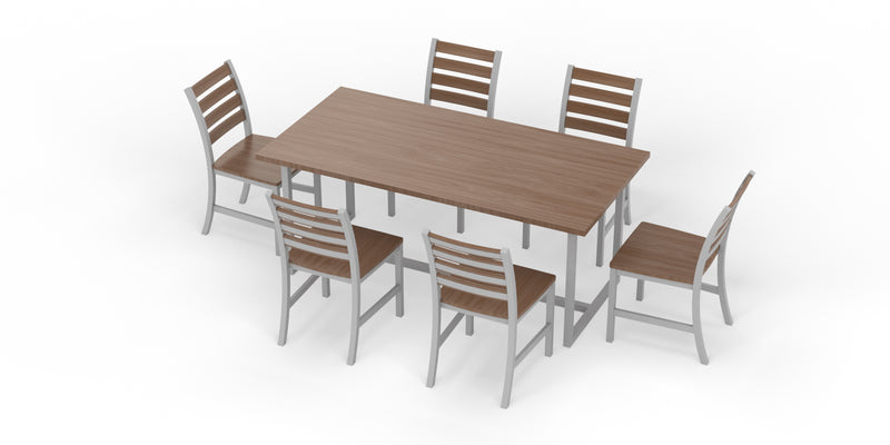 "Elan Furniture Port Indoor 72"" Rectangular 7 Piece Dining Set"
