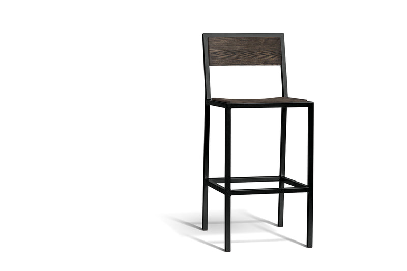Elan Furniture Urban Wood Ash-Onyx Bar Height Chair (Set of 2)