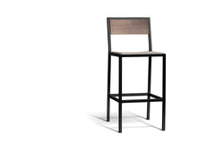 Elan Furniture Urban Wood Ash-Chocolate Spice Bar Height Chair (Set of 2)