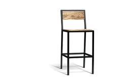 Elan Furniture Urban Wood Walnut Bar Height Chair (Set of 2)