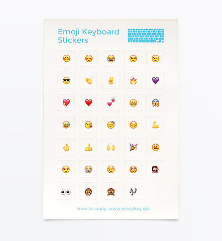 Emoji stickers for white keyboard