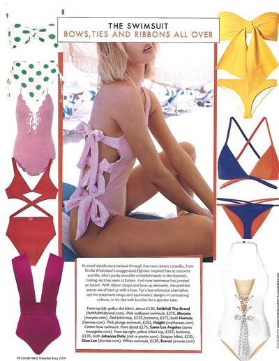 Seen in Conde Nast Traveller May 2019 - The Zoe One Piece in Blushed Pink