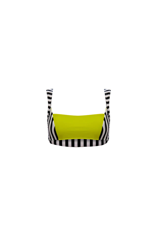 The Divine Top (Black White Stripe/Lime)