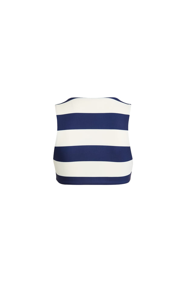 The Lady Top (Navy/Cream Stripe)