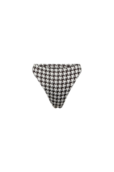 High Rise Bottom (Black Houndstooth)