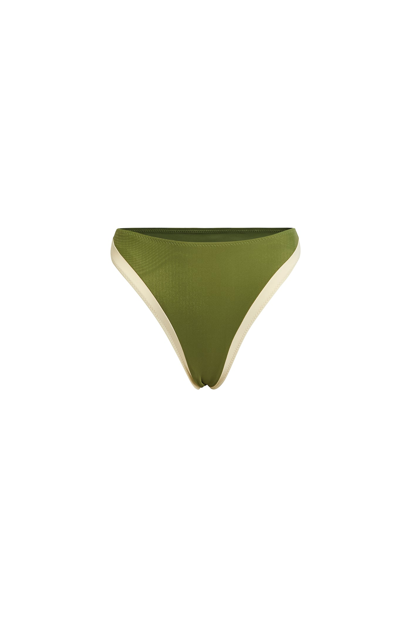 The Divine High Rise Bottom (Cream/Olive)