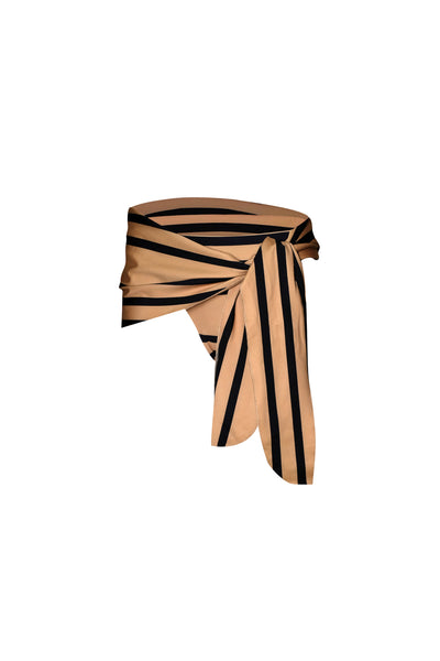 The Lady High Rise Sarong (Cashew Black Stripe)