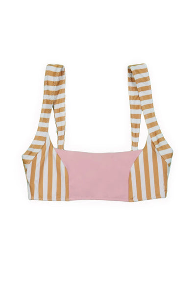 The Divine Top (Tan White Stripe/Pink)