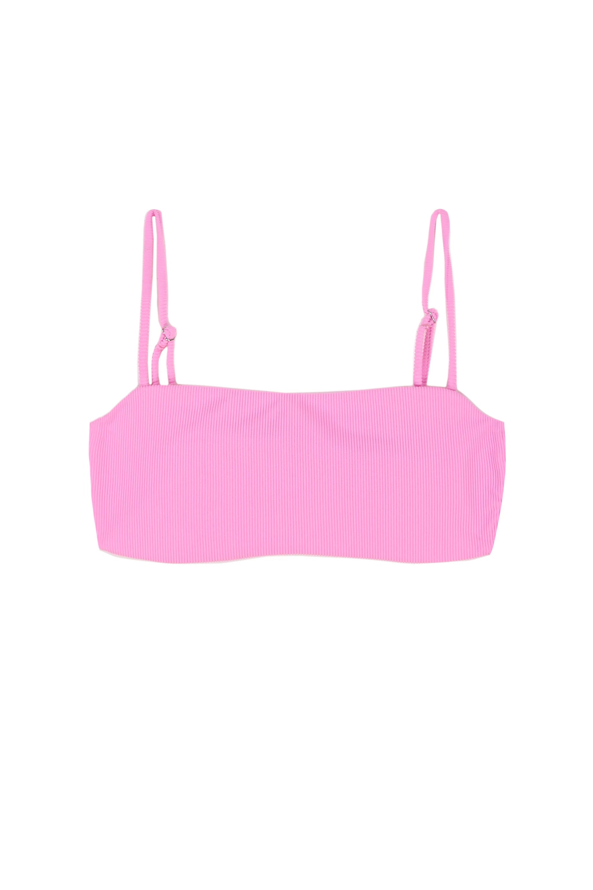 Bandeau Top (Ribbed Pink)