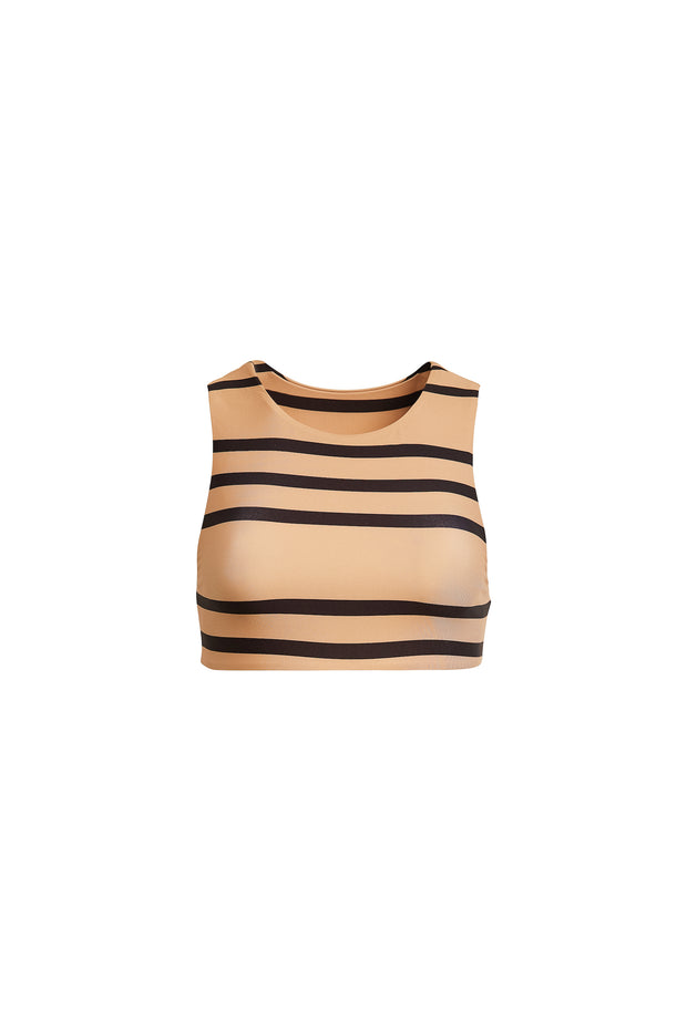 The Lady Top (Cashew Black Stripe)
