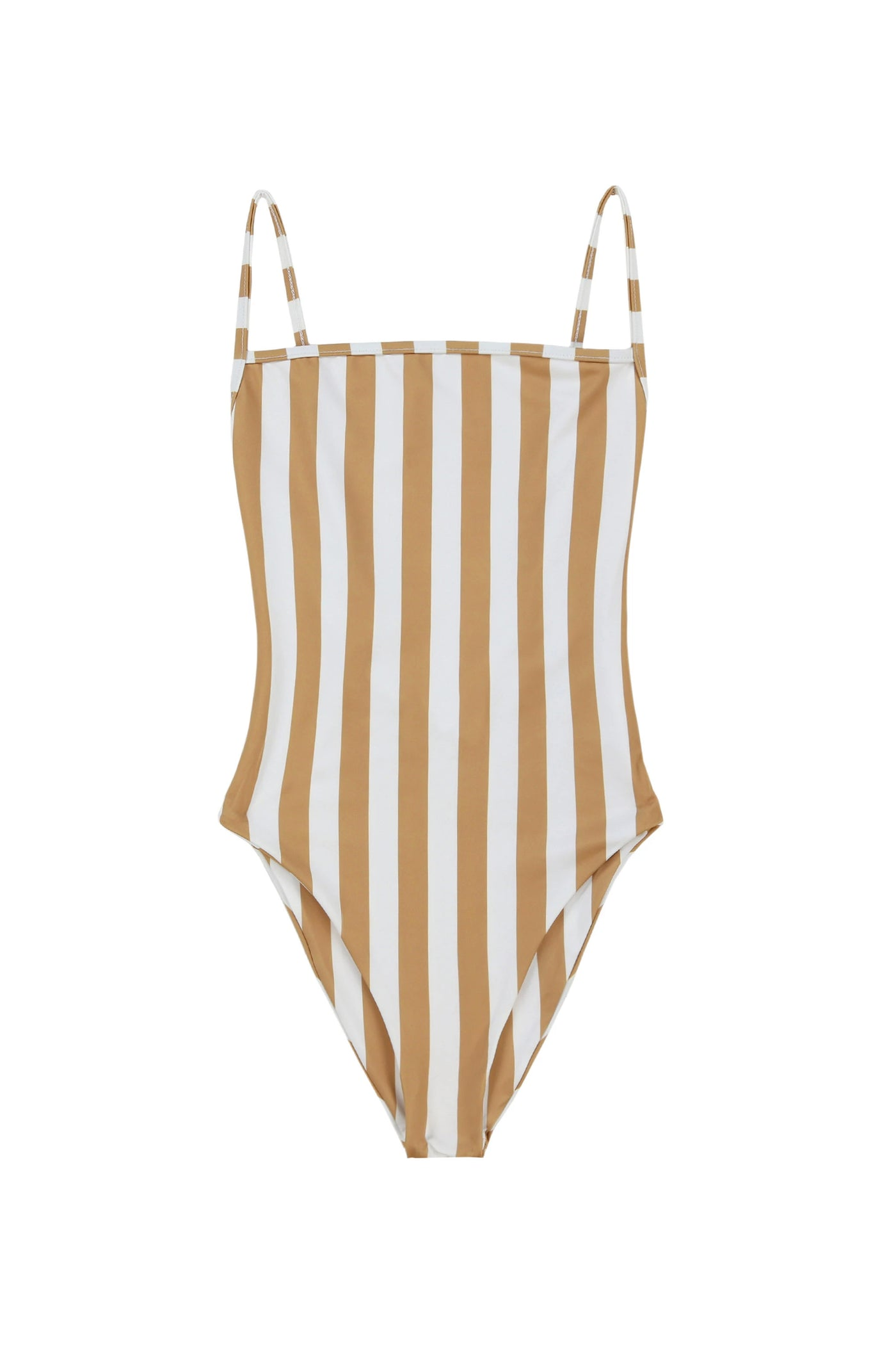 The One Piece (White/Nude Stripe)