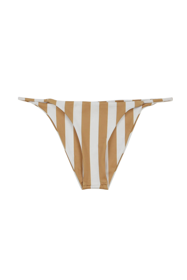 String Bottom (White/Nude Stripe)