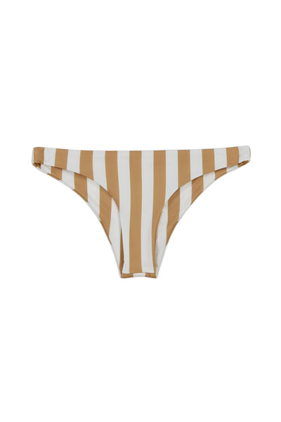 Brief Bottom (White/Nude Stripe)
