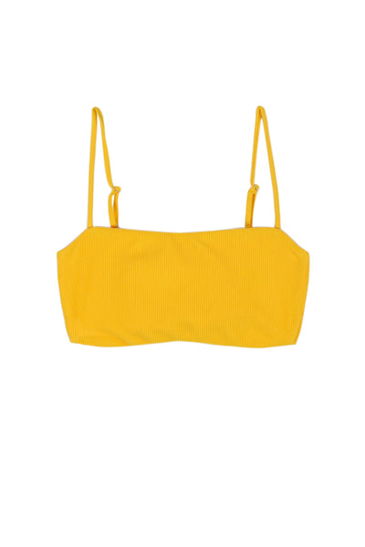 Bandeau Top (Ribbed Yellow)