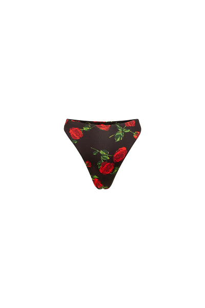 High Rise Bottom (Black Rose)