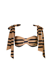 The Lady Bra (Cashew Black Stripe)