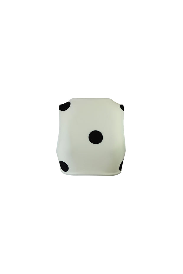 The Lady Top (Cream Black Polka Dot)