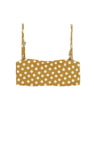 Bandeau Top (Sunflower Polka Dot)