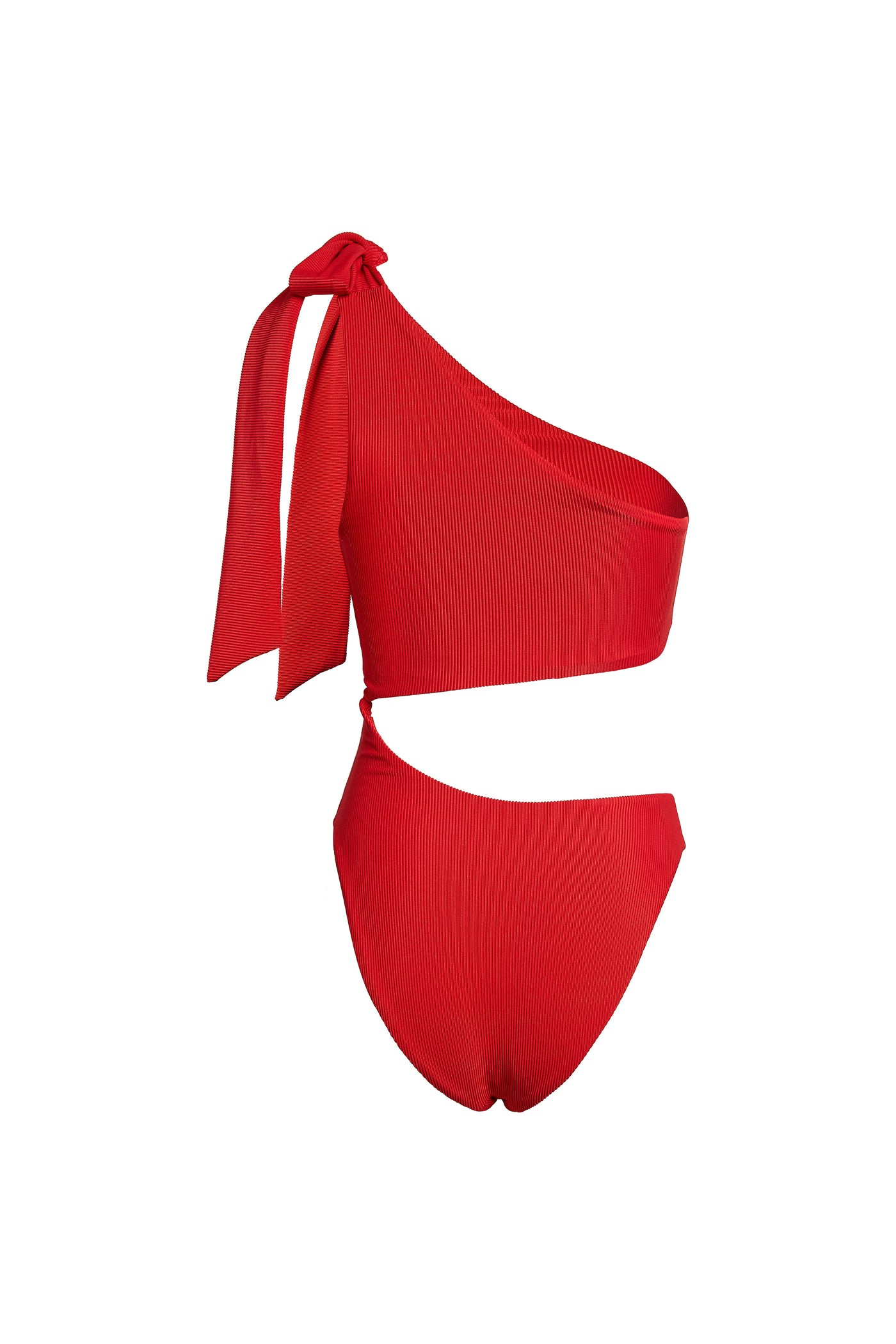 Cut Out One Piece (Ribbed Red)