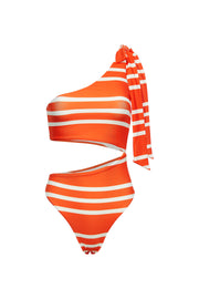 Cut Out One Piece (Rich Orange Stripe)