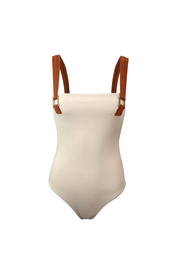 The Celine One Piece (Ribbed Cream)