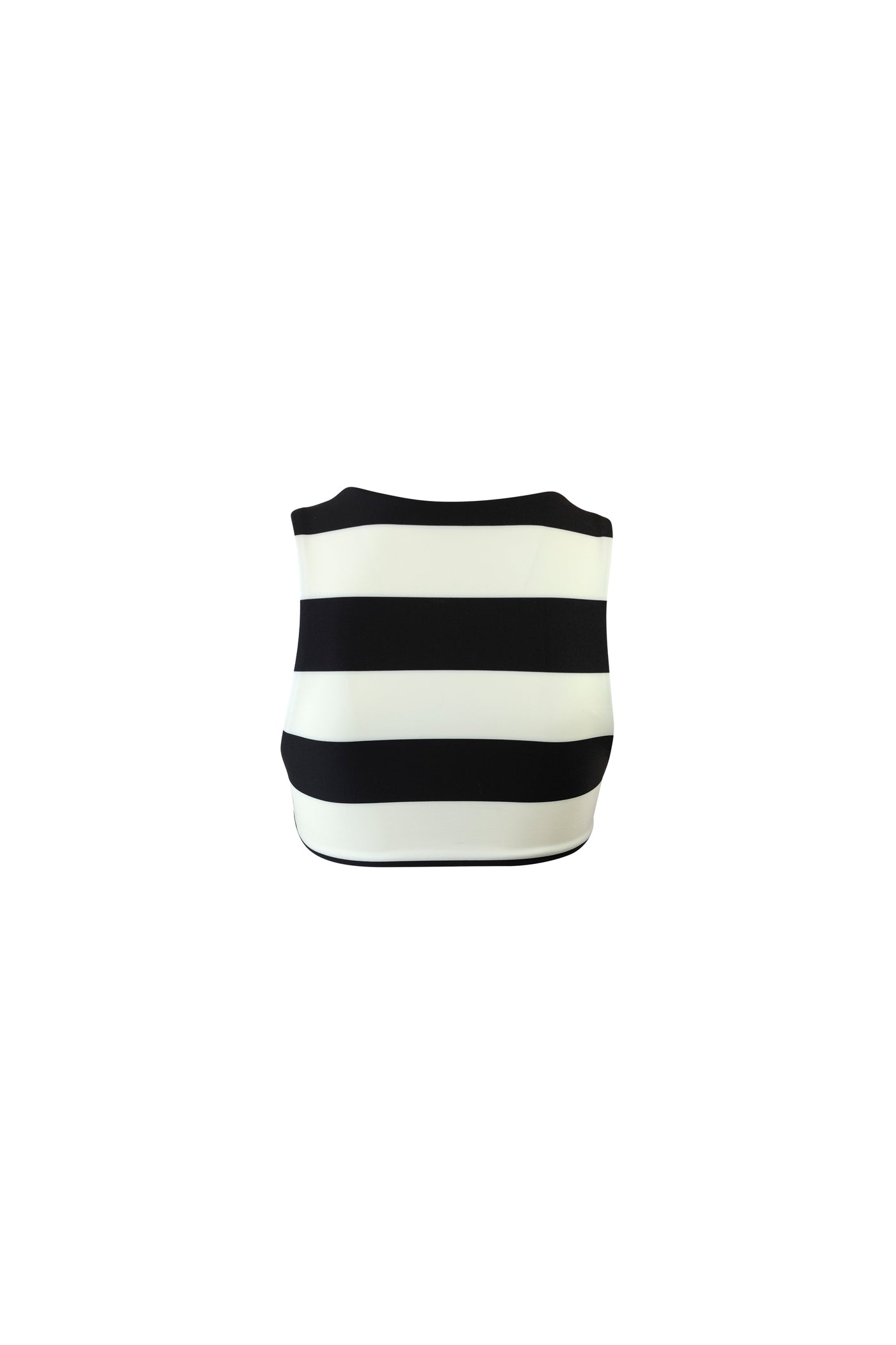 The Lady Crop Top (Black Cream Stripe)