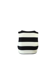 The Lady Top (Black Cream Stripe)