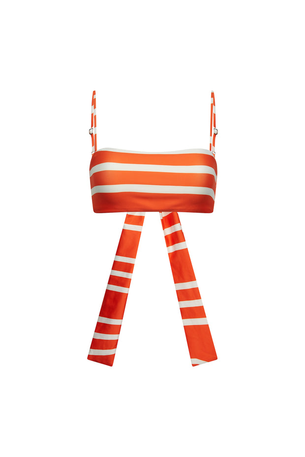Bandeau Top  (Rich Orange Stripe)