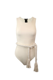 The Lady One Piece (Ribbed Cream)