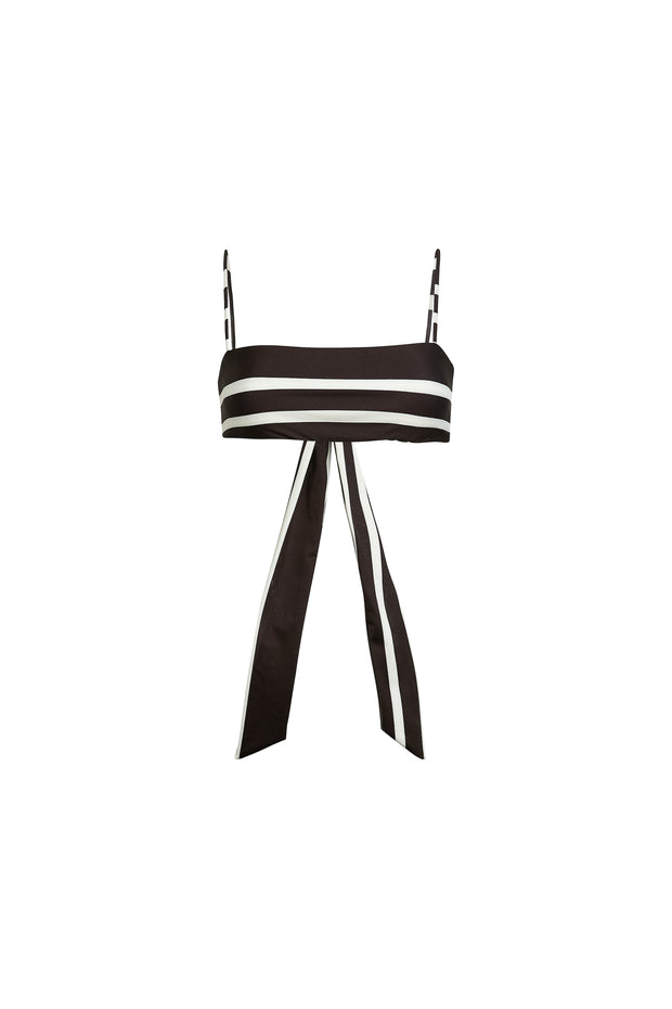 Bandeau Top  (Black Cream Stripe)