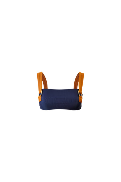 The Celine Top (Ribbed Navy)