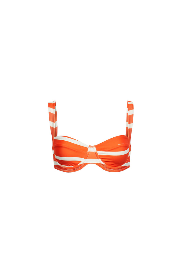 Bra Top (Rich Orange Stripe)