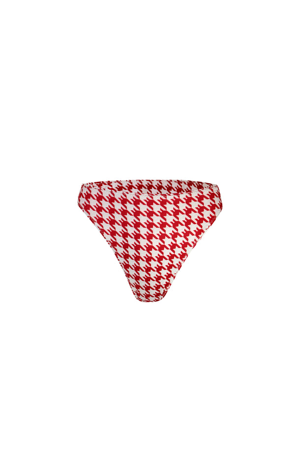 High Rise Bottom (Red Houndstooth)
