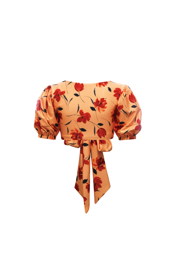Sophia Top (Peach Rust Floral)