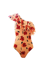 Audrey One Piece (Peach Rust Floral)