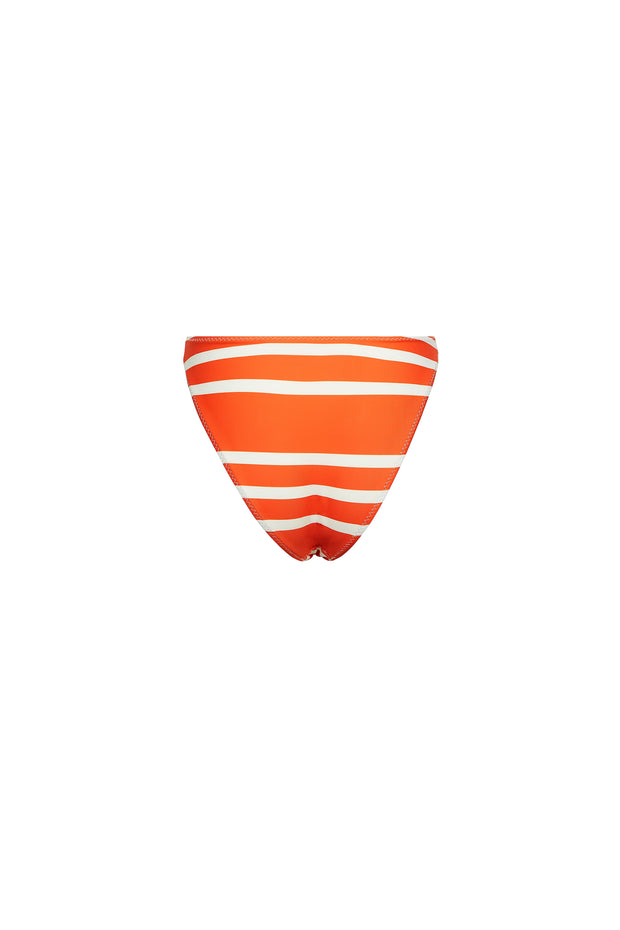 High Rise Bottom (Rich Orange Stripe)