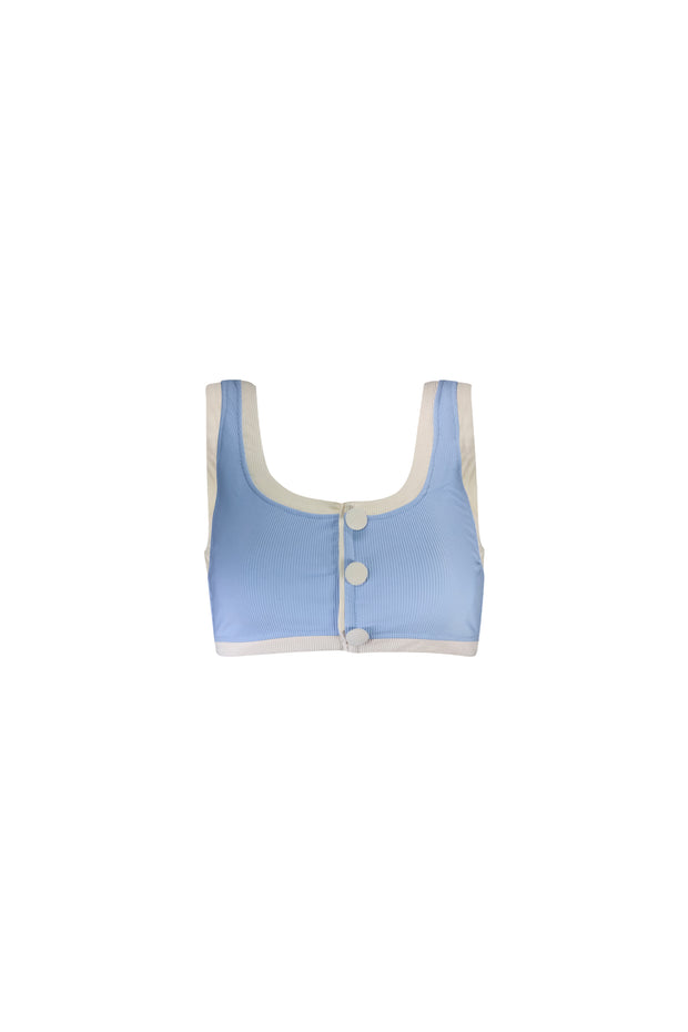 The Grace Tank (Ribbed Baby Blue/Cream)