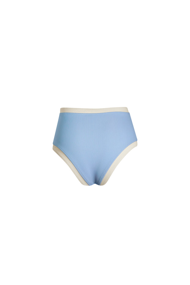The Grace Vintage High Rise (Ribbed Baby Blue/Cream)