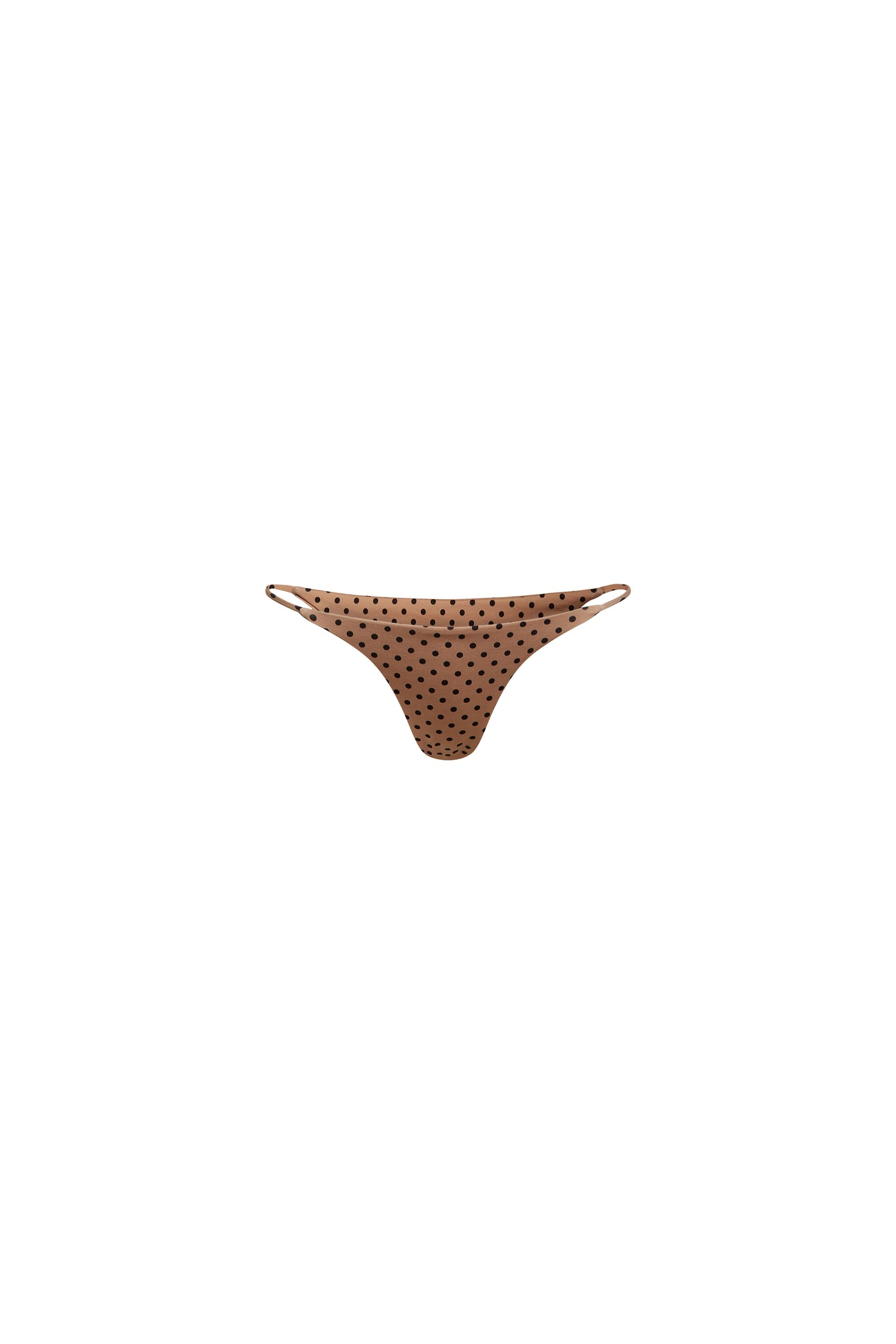 String Bottom (Nude Black Polka Dot)