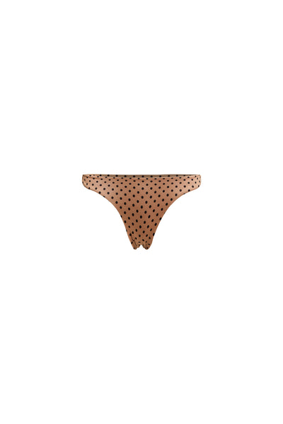 Brief Bottom (Nude Black Polka Dot)
