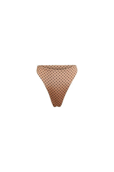 High Rise Bottom (Nude Black Polka Dot)