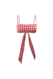 Bandeau Top  (Red Houndstooth)