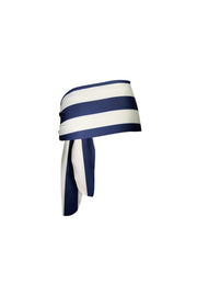 The Lady High Rise Sarong (Navy/Cream Stripe)