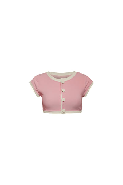 The Grace Top (Ribbed Blush/Cream)