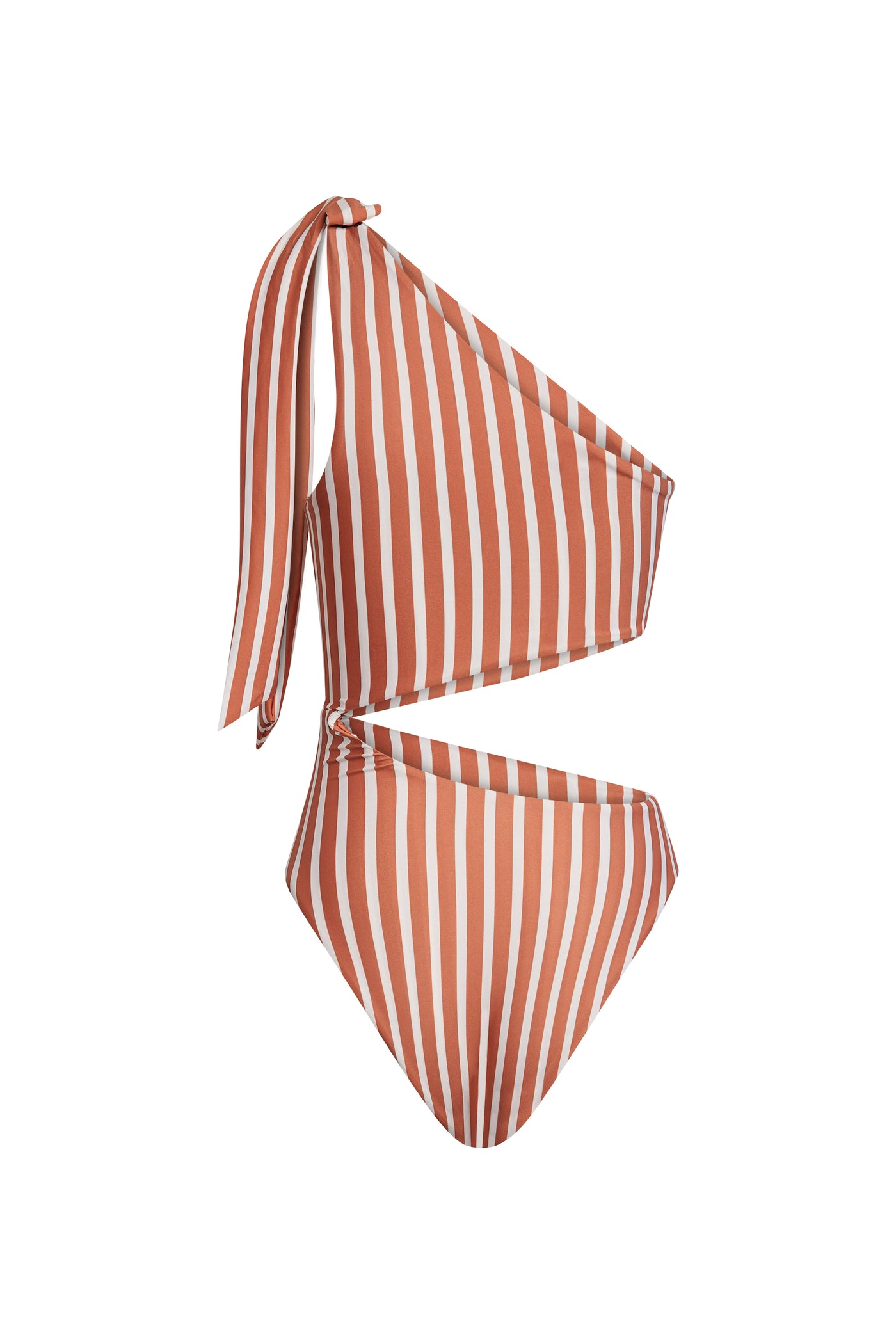 Cut Out One Piece (Camel White Stripe)